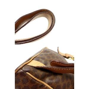 Céline Macadam Monogram 226343 Brown Coated Canvas Backpack