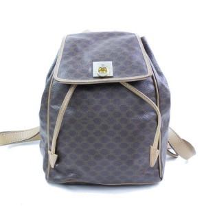 Céline Macadam Monogram 866775 Brown Coated Canvas Backpack
