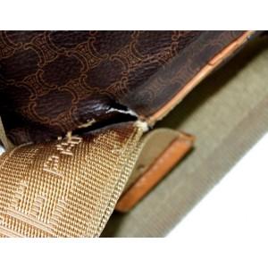 Céline Macadam Monogram 866875 Brown Coated Canvas Backpack
