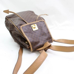 Céline Macadam Monogram 867250 Brown Coated Canvas Backpack