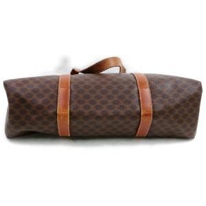 Céline Macadam Shopper Monogram Tote 872644 Brown Coated Canvas Shoulder Bag