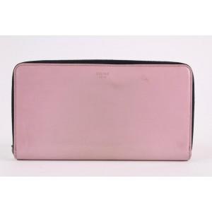 Céline Pink Patent Leather Continental Zip Around Wallet Zippy  L4CEL1221
