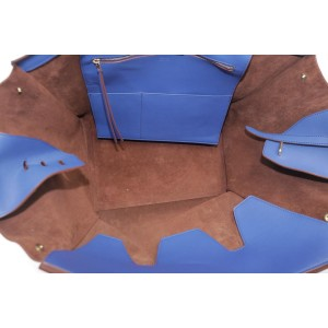 Céline Tie Knot 1ck1204 Blue Calfskin Leather Tote