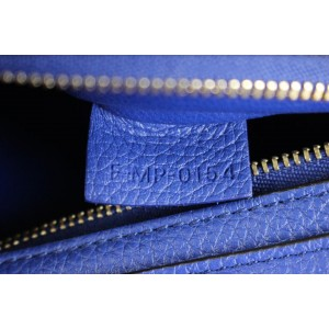 Céline Trapeze Drummed Calfskin Suede Small 819cet1 Blue Leather Shoulder Bag