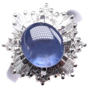 Platinum/diamond sapphire Ring NST-371