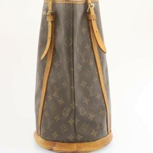 LOUIS VUITTON Monogram canvas Bucket Shoulder Bag