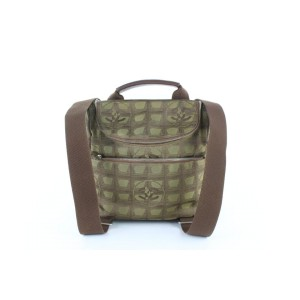 Chanel New Line Khaki Convertible 3way 14cz1113 Brown Canvas Backpack