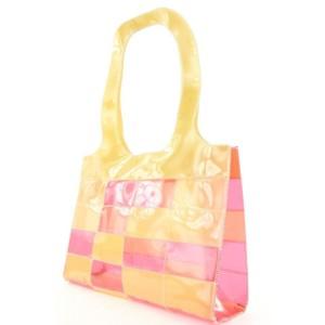 Chanel Pink Patchwork Clear Beach Shoulder Bag 197ccs29
