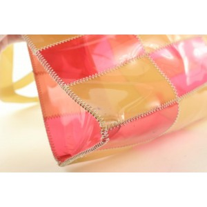 Chanel Pink Patchwork Clear Beach Shoulder Bag 197ccs29