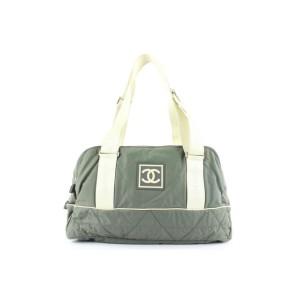 Chanel  Grey Sports Logo CC Boston Duffle Bag 1ch2lm