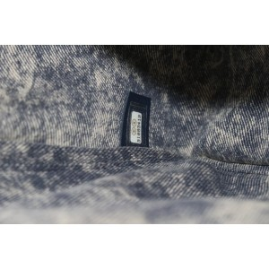 Chanel 21P Under The Sun Navy Denim Maxi Classic Flap Chain Bag  309ccs222