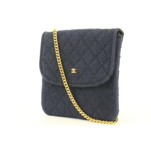 Chanel Mini Quilted Navy Micro Chain Flap Bag 630ccs316