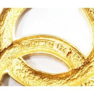 Chanel Gold Tone and Rhinestone CC Brooch