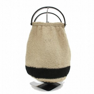 Chanel Bag Bucket Hobo Woven 872656 Beige Fabric Tote