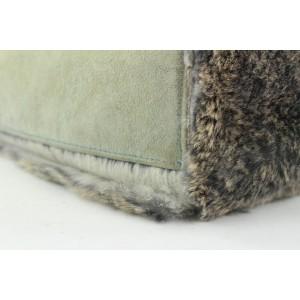 Chanel Grey CC Logo Rabbit Fur Tote bag with Pouch 227ccs211