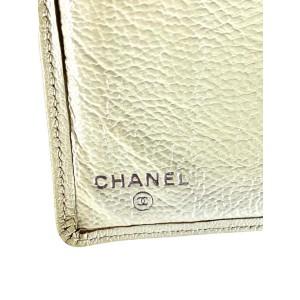 Chanel Beige CC Logo Long Bifold Flap Wallet 857664