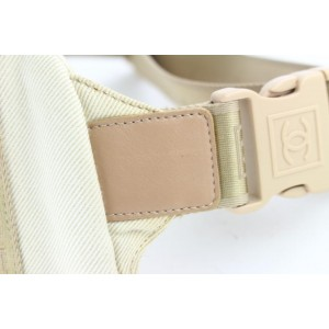 Chanel Belt Waist Pouch Fanny Pack 16cz1130 Beige Canvas Cross Body Bag