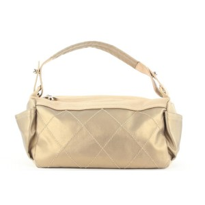 Chanel Metallic Champagne Gold Quilted Biarritz Hobo Bag 183ccs28