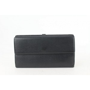 Chanel Black Calfskin Button Line Long Flap Wallet 81cas630