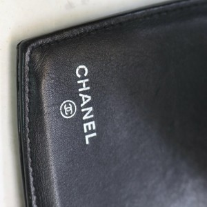 Chanel Black CC Logo Patent Flap Wallet 862472