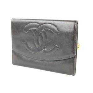 Chanel Black CC Logo Timeless Flap Wallet 6ccs1223