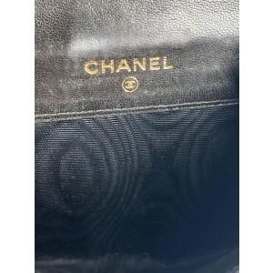 Chanel Black Lambskin CC Logo Compact Wallet Coin Purse 855900