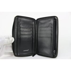 Chanel Black New Line Zip Wallet 82cas630