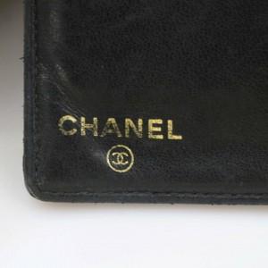 Chanel Black Long Caviar Leather Cc Logo Bifold Flap 871086 Wallet