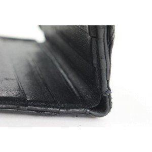 Chanel Black Quilted Lambskin CC Logo Compact Wallet 69ccs126