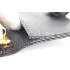 Chanel Small Black Caviar Leather Agenda Diary Cover 8620613A