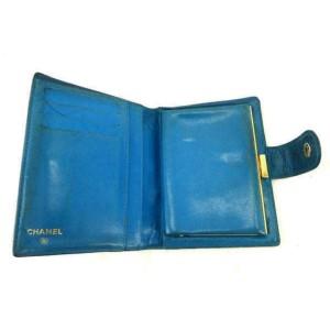 Chanel Blue Caviar Cc Bifold Snap 232490 Wallet