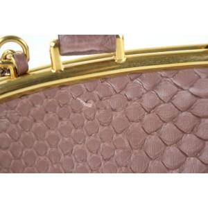 Chanel Mauve Python Retro Donna Bowling Bag 6CC1