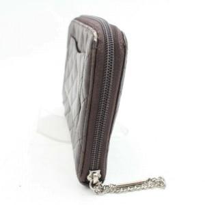 Chanel Brown Zippy Organizer Cambon Quilted Ligne 870997 Wallet