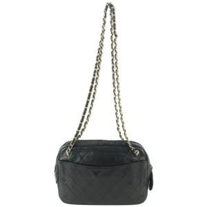 Chanel Black Quilted Lambskin Camera Crossbody Bag 492cas67