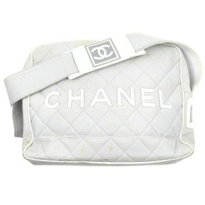 Chanel Quilted Grey CC Sports Logo Camera Bag 862519