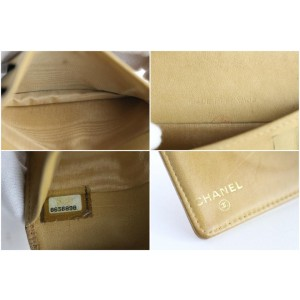Chanel Caviar Card Holder 226613 Beige Leather Clutch