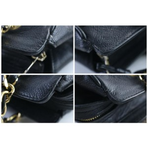 Chanel Caviar Triple Cc Chain Tote 28cr0605 Black Leather Shoulder Bag