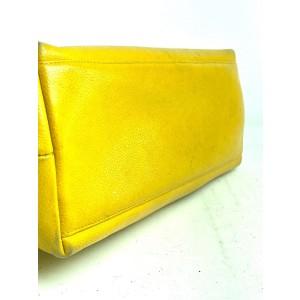 Chanel Cc Chain Classic 14cca63 Yellow Caviar Leather Tote