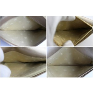 Chanel Cc Flap Wallet Champagne 225102 Light Gold Leather Clutch