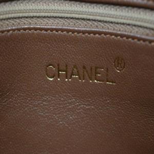 Chanel Light Brown Tassel Chevron Diamond Quilted Camera Chain Bag 863212