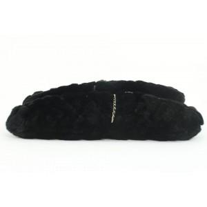 Chanel Black Rabbit Fur Chain Drip Clutch 858748