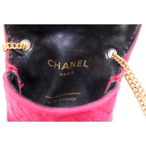 Chanel Quilted Red Mini Extra Small Flap Chain Bag 858458