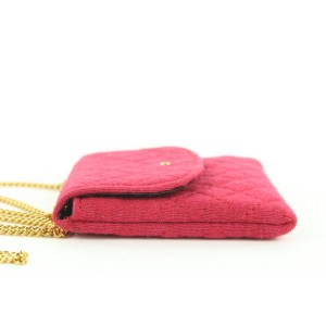 Chanel Mini Red Quilted Micro Flap Chain Bag 185ccs28