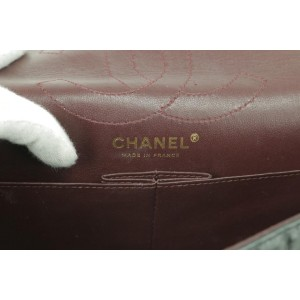 Chanel Classic Flap 2.55 Reissue 18ck0106 Quilted Black Distressed Leather Cross Body Bag