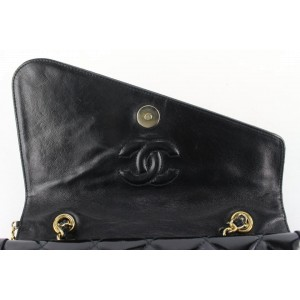 Chanel Black Patent Fringe Tassel Flap Bag