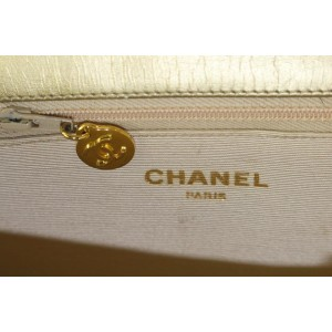 Chanel Chevron Quilted Gold Leather Chain Flap Bag 726cas324