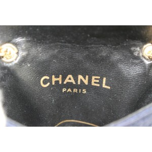 Chanel Micro Navy Quilted Mini Classic Chain Flap Bag 629ccs316