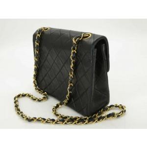 Chanel Classic Handbag Cc Mini Matelasse 20 Chain Shoulder 872277 Black Lambskin Leather Cross Body Bag