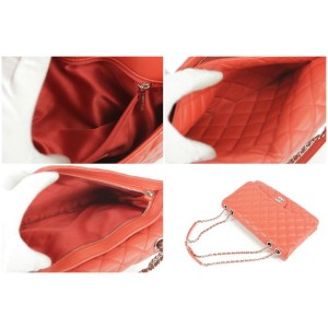 Chanel Classic Quilted Flap 17ck1220 Red Lambskin Leather Shoulder Bag