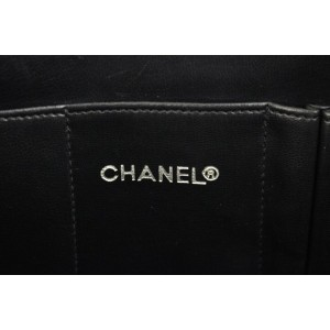 Chanel Black Chevron Clutch Bag 858730